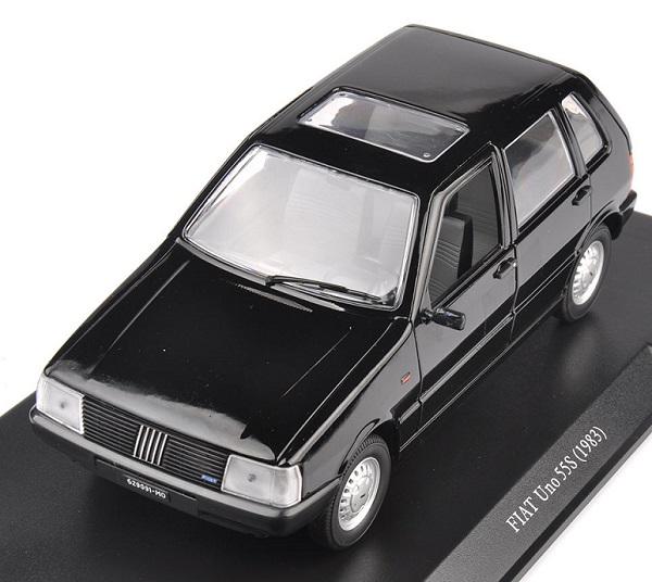 โมเดลรถเหล็ก โมเดลรถยนต์ Fiat Uno 55S black 1