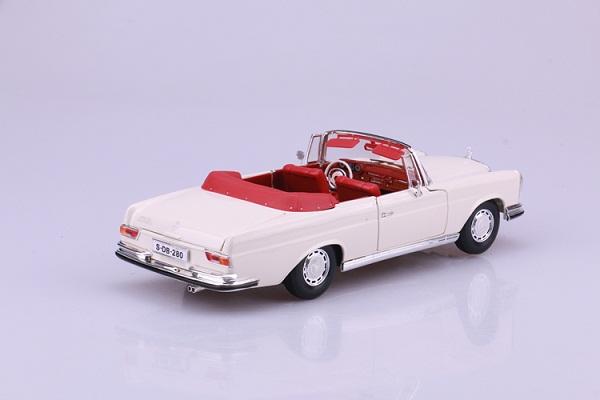 โมเดลรถ โมเดลรถเหล็ก โมเดลรถยนต์ Benz 280SE white 4