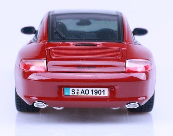โมเดลรถ โมเดลรถเหล็ก โมเดลรถยนต์ Porsche targa red 5