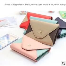 Day by Day Pouch Ver.2 กระเป๋าใส่โทรศัพท์ สีแดงน้ำตาล
