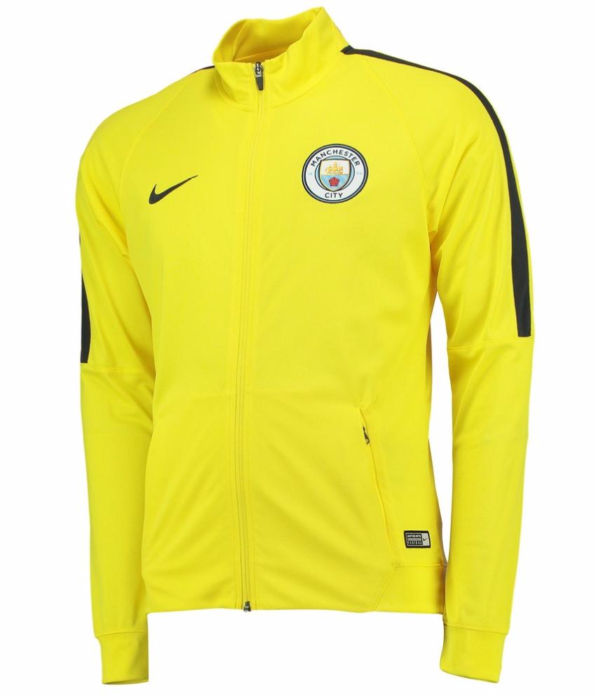 เสื้อแจ็คเก็ตแมนเชสเตอร์ ซิตี้ของแท้ Manchester City Squad Track Jacket Yellow