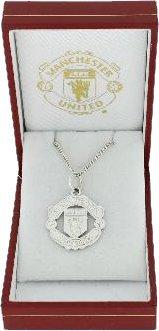 สร้อยคอ ที่ระลึก แมนยู พร้อมกล่องใส่ สวยหรู ของแท้ จากอังกฤษ Manchester Utd official Sterling Silver Pendant สำหรับสวมใส่ เป็นของฝาก ที่ระลึก สะสม แด่คนสำคัญ
