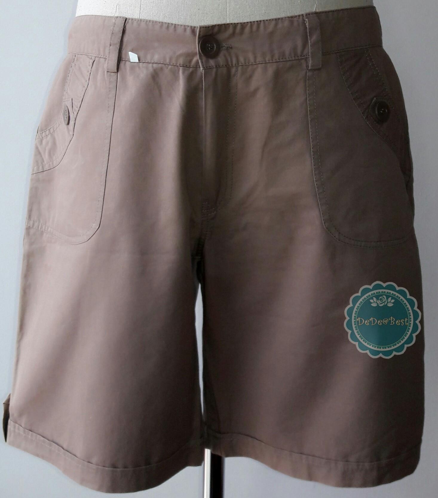 P5:2nd hand pants กางเกงขาสั้นสีน้ำตาลอ่อน