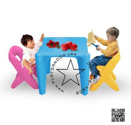 2SPT-1065L โต๊ะติวเตอร์หนูน้อย 1 ชุดประกอบด้วยโต๊ะ 1ตัว, เก้าอี้ 2 ตัว