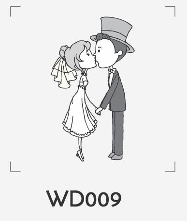 ตราปั๊มงานแต่ง WD009