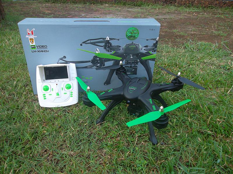 LH-X14HDV GPS Drone+ดาวเทียม+บินกลับที่ตั้ง+ล็อคตำแหน่ง+FULL HD
