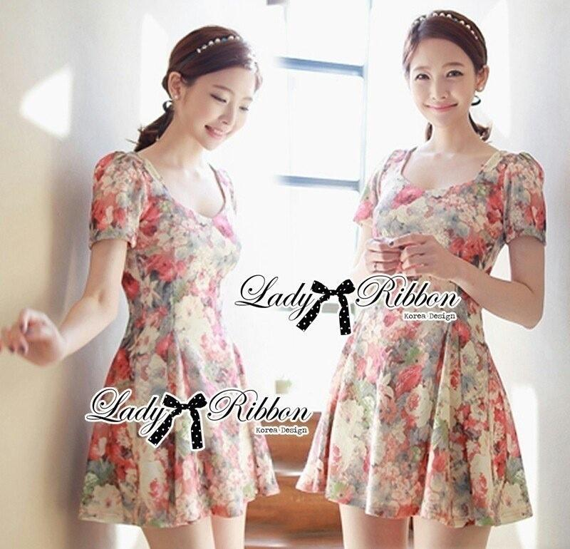 Lady Ribbon's Made Lady Tabitha Sweet Floral Effect Mini Dress