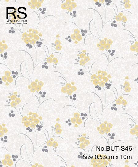 วอลเปเปอร์ลายดอกไม้ใบไม้ BUT-S46