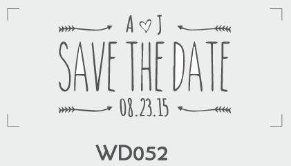 ตราปั๊มงานแต่ง WD052