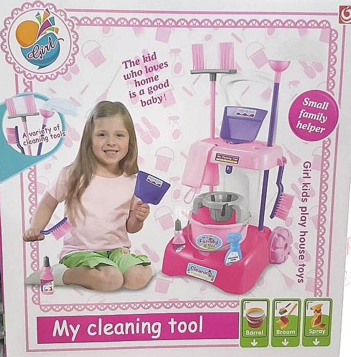 ชุดรถเข็นทำความสะอาด my cleaning tool สีชมพู ส่งฟรี