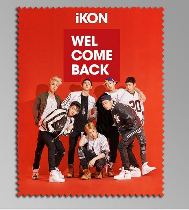 ผ้าเช็ดแว่นตา iKON : Welcome BACK