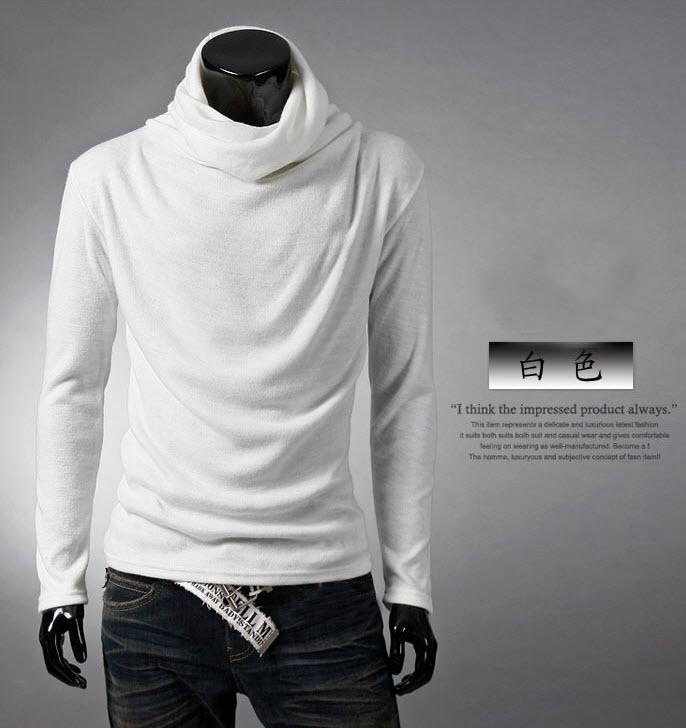 พร้อมส่ง เสื้อคอเต่า สีขาว แขนยาว คอเต่า ทรงคอย้วย ใส่ทับด้วยโค้ทหรือใส่เดี่ยวก้อเท่ห์ และอุ่นๆมาก แมทซ์กับเสื้อผ้าได้ง่าย