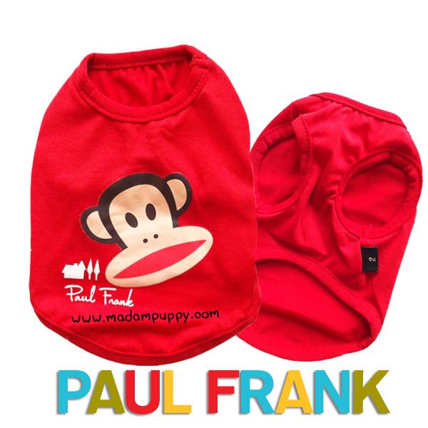 (สินค้าหมดรุ่น) เสื้อกล้ามสุนัข Paul Frank สีแดง รุ่น 7 สี 7 วัน พร้อมส่ง