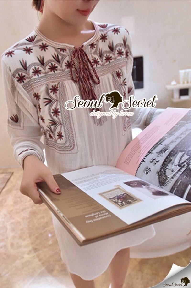 Seoul Secret Say's... Dainty Crimson Embroider