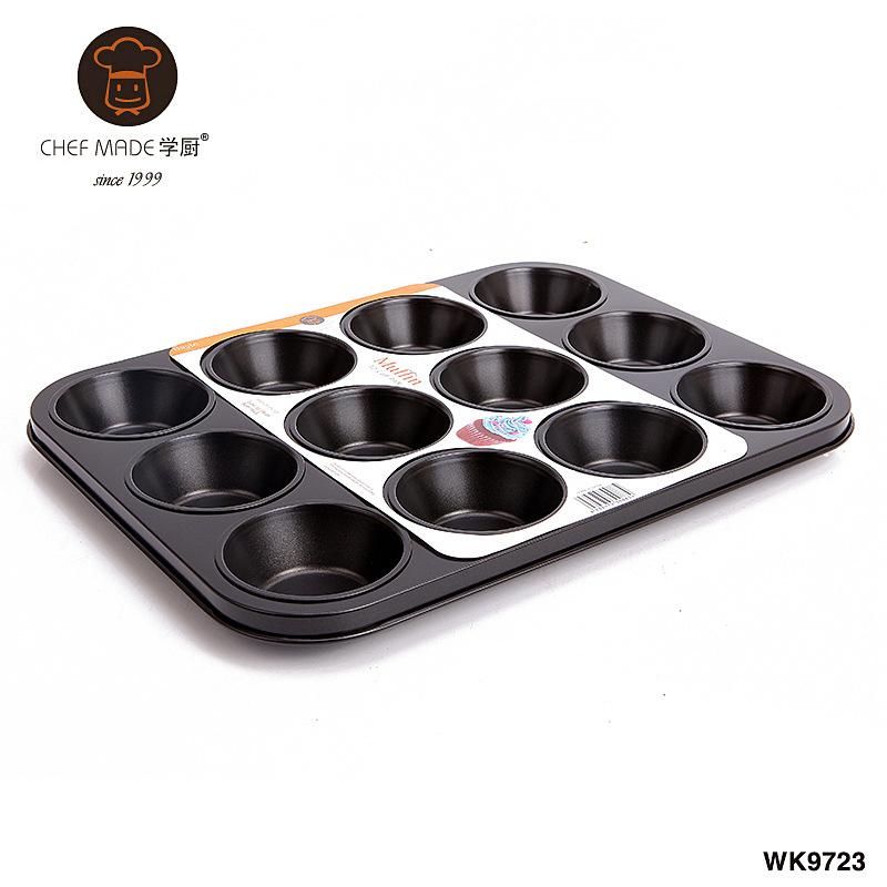 Chef Made ถาดหลุมเทปล่อน 12 หลุม (37.3*28.7*2.7 cm.)