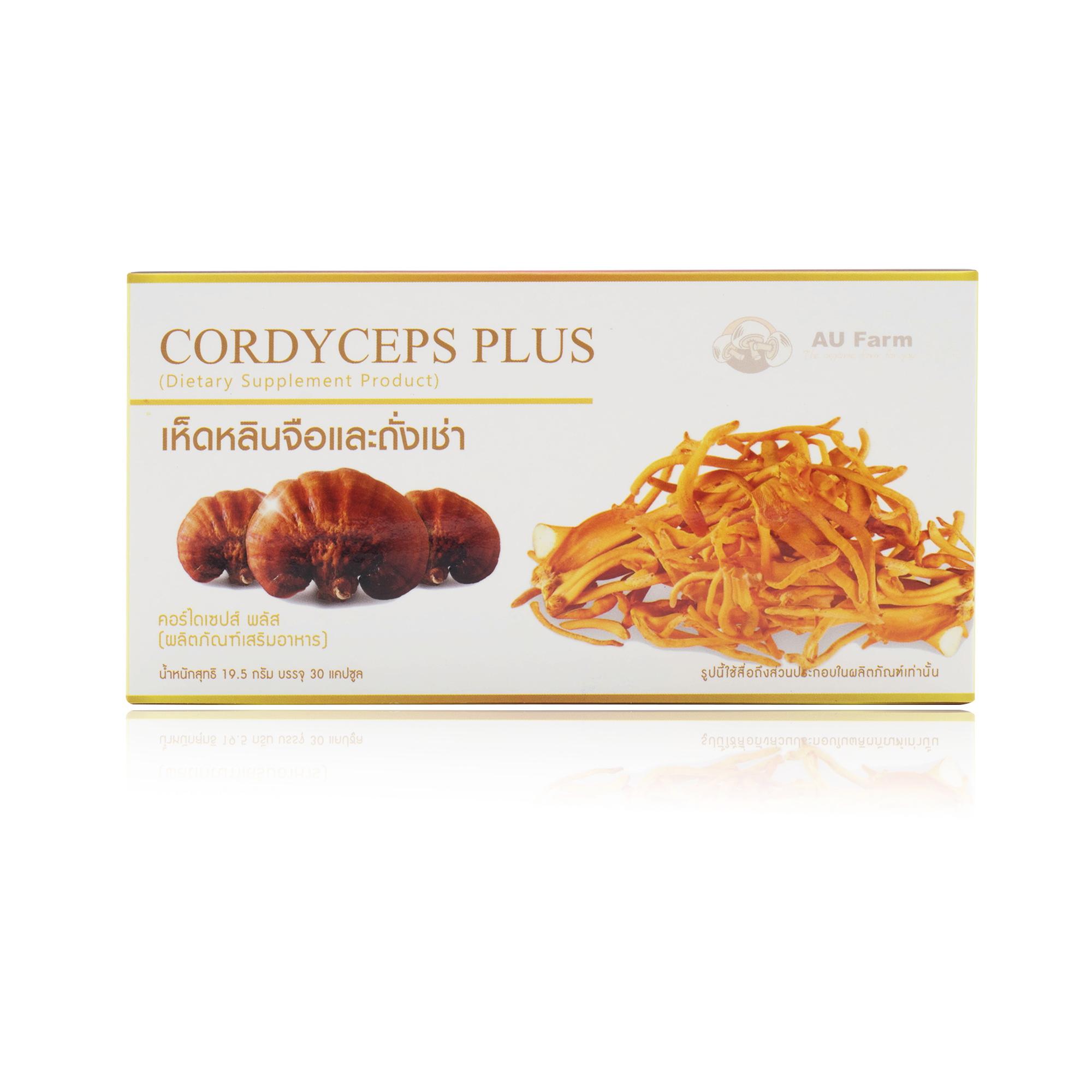 Cordyceps Plus เห็ดหลินจือแดงผสมถั่งเช่าสีทอง