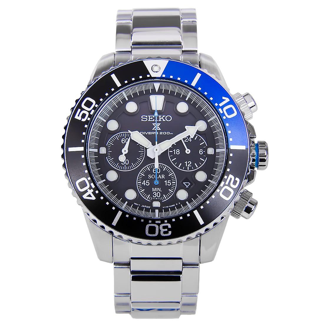 นาฬิกา Seiko Solar Chronograph Divers Mens Watch SSC017P1 SSC017