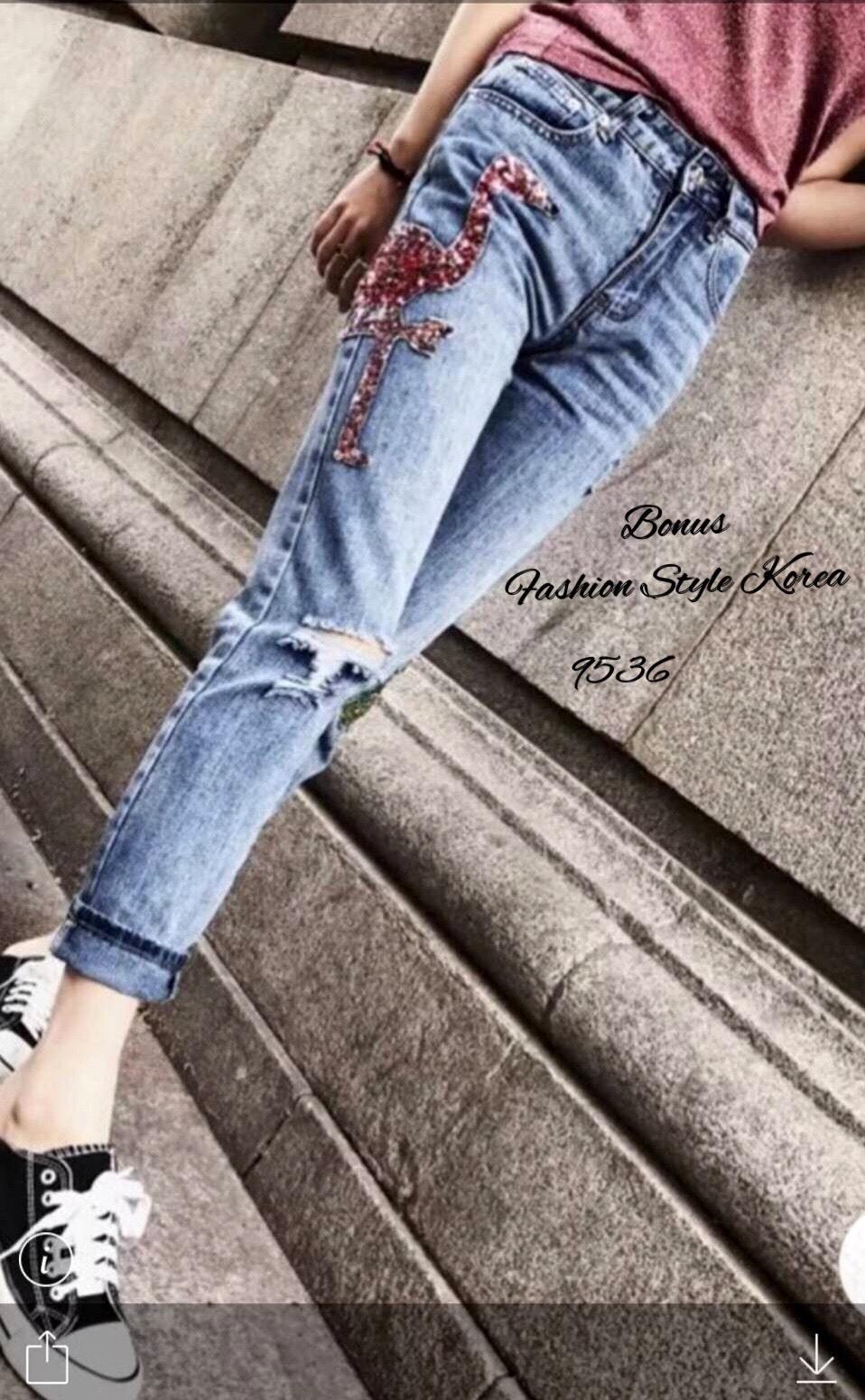 Jeans flamingo