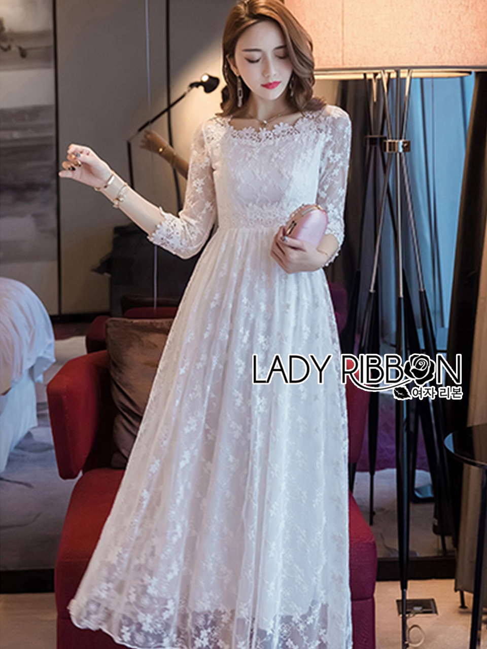 Eves Princess Style White Lace Dress