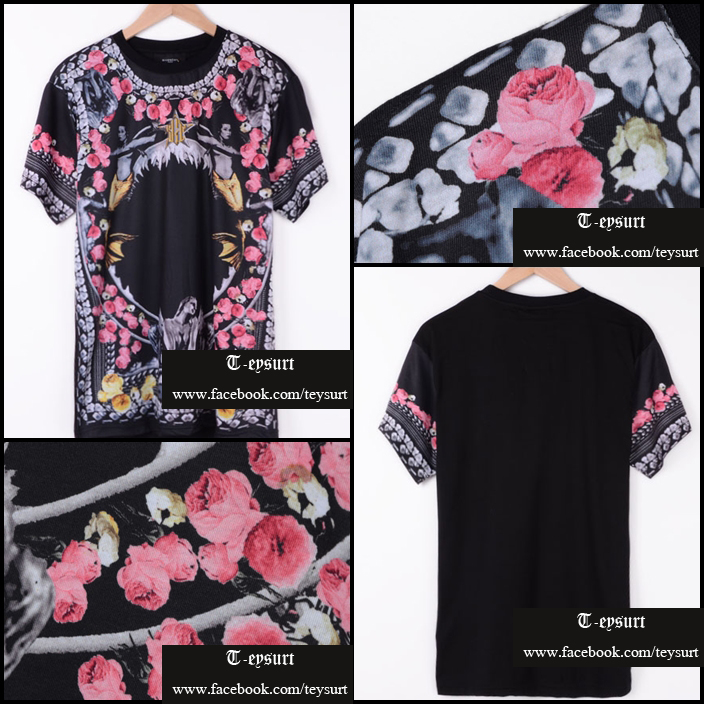 เสื้อGivenchy Shark Mermaid Floral
