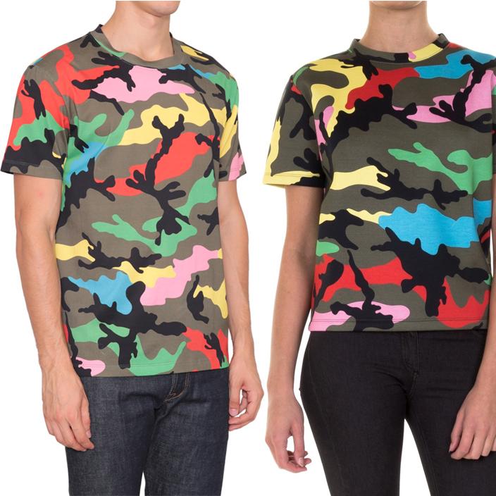 เสื้อยืดValentino Camo Printed