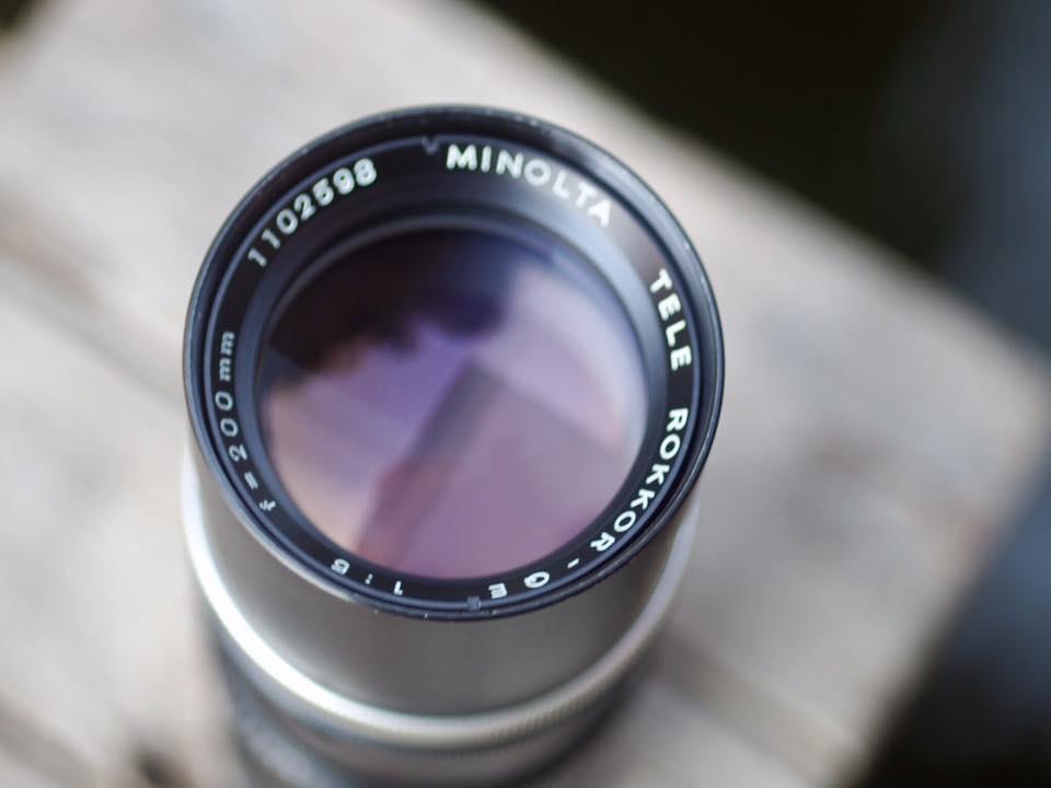 MINOLTA TELE ROKKOR QE 200 MM. F5 MD MOUNT