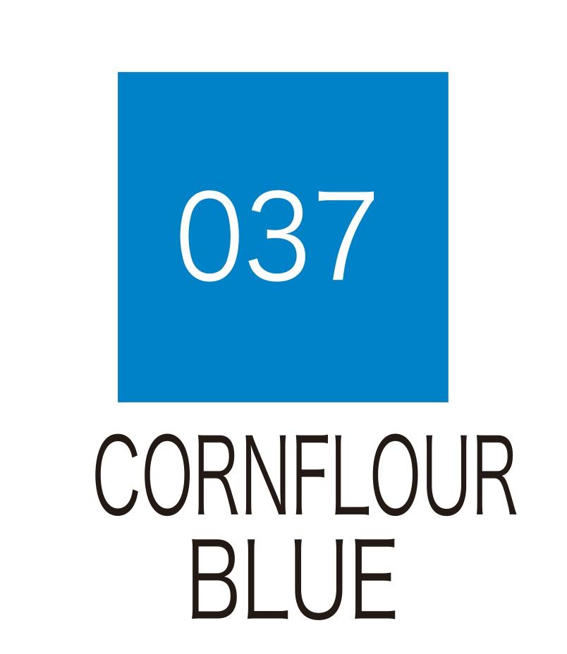 ปากกาสี 2 หัว ZIG CLEAN COLOR No.037 - Cornflour Blue