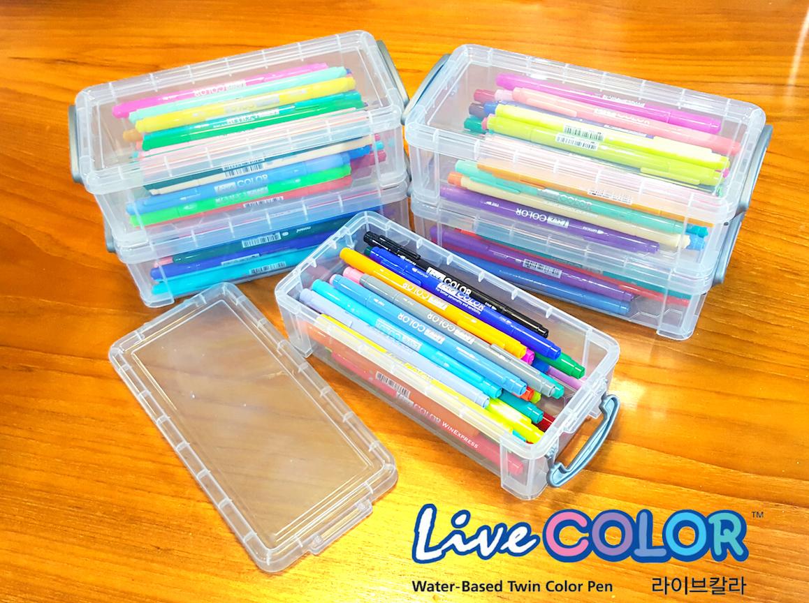 Boxset Set 39 Colors (40เเท่ง) - ปากกาสี 2 หัว Monami Live Color