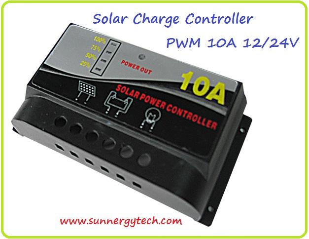 ตัวควบคุมการชาร์จแบตเตอรี่ แบบ PWM ขนาด 10A 12/24V (WLS)