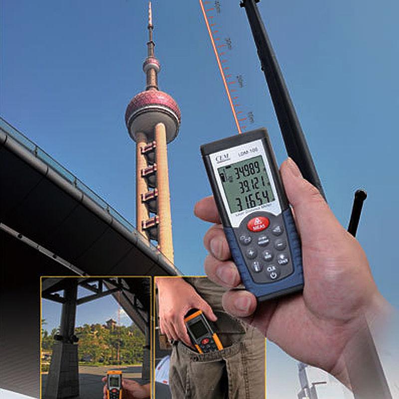เครื่องวัดระยะ (distance meter) แบบเลเซอร์ รุ่น CEM LDM-70 วัดระยะได้ 70m