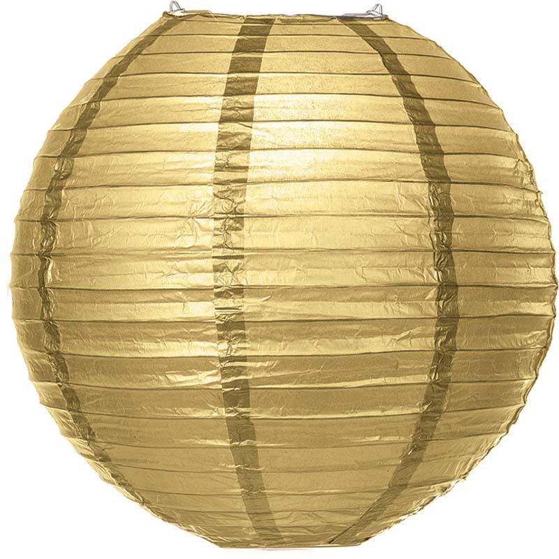 30 cm. โคมไฟกระดาษ Gold
