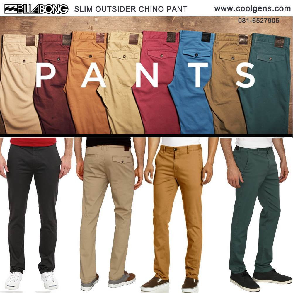 Billabong Slim Outsider Chino Pants( มาเพิ่ม 09-05-58)