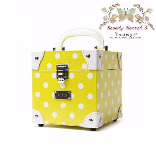 กระเป๋าเครื่องสำอาง กล่องเครื่องสำอาง สีเหลือง BeautysecertD Mladic Series Trumpet Cosmetic Case