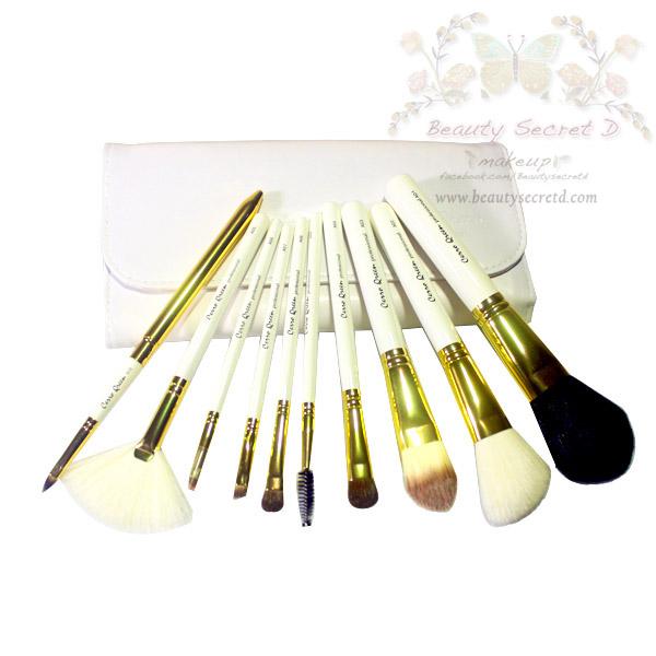 แปรงแต่งหน้า ชุดเซ็ท แปรงแต่งหน้า คุณภาพดี ขนอ่อนนุ่ม พิเศษ Cerro Qreen Professional Makeup Brushes Dream Set /10 Pcs. - White Glod