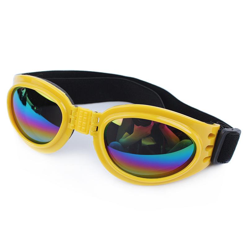 แว่นตาสุนัข สีเหลือง
