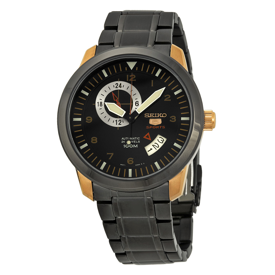 Seiko 5 Sports Automatic Grey Dial Stainless Steel Mens Watch SSA212