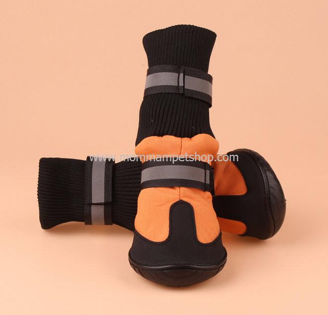 รองเท้าสุนัขโต สีส้ม (4 ข้าง)