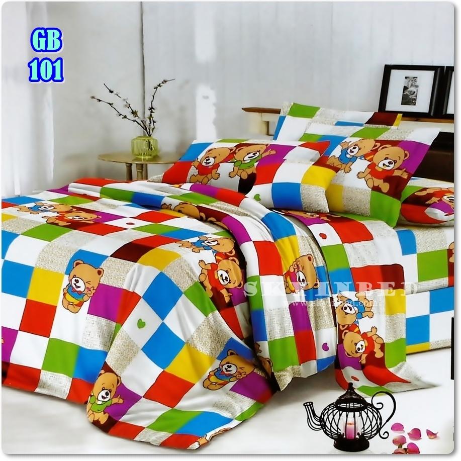 ผ้าปูที่นอนราคาถูก ขนาด 5 ฟุต(5 ชิ้น)[GB-101]