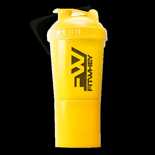 Dymatize SHAKER ขวดเชคเวย์ สีเหลือง รุ่น SHAKER 2 IN 1(NEW)