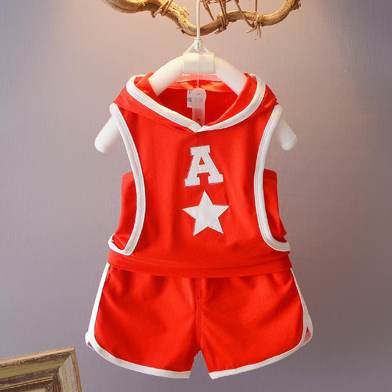 **ชุดเช็ตกางเกงขาสั้นเสื้อสีแดง A Star size=S-XL | 4ตัว/แพ๊ค | เฉลี่ย 145/ตัว