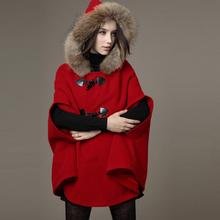 CW5908002 เสื้อโค้ท ผ้าผสมขนสัตว์ กึ่งผ้าคลุมไหล่ อบอุ่นมาก สไตร์เกาหลี (พรีออเดอร์) รอ 3 อาทิตย์หลังโอนเงิน