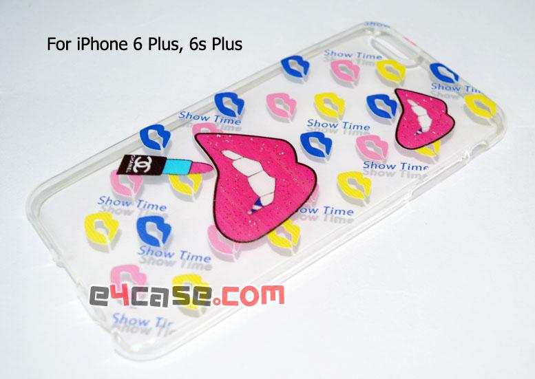เคส iPhone 6 Plus, iPhone 6s Plus - เคสยางใสมีลายนูน