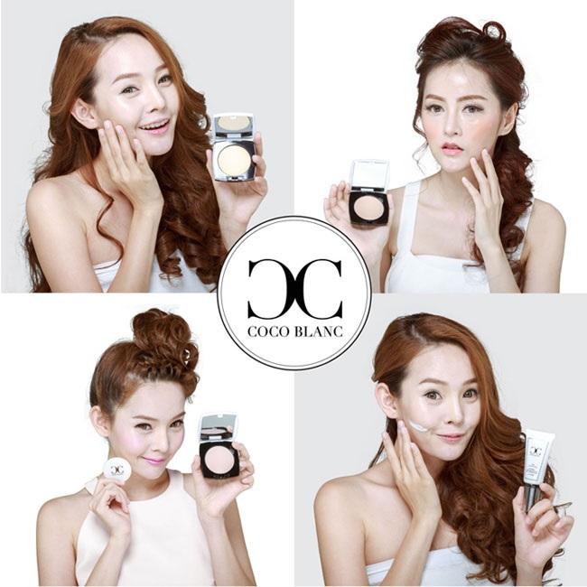 Coco Blanc Aura Pressed Powder NO.2 แป้งโคโค่หน้าเงา เนียนใส ไม่โบ๊ะ
