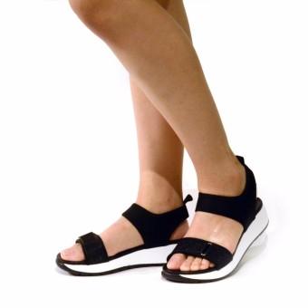 BATA รองเท้าผู้หญิงแตะลำลองแบบรัดส้น LADIES'SUMMER SANDAL สีดำ รหัส 6616375