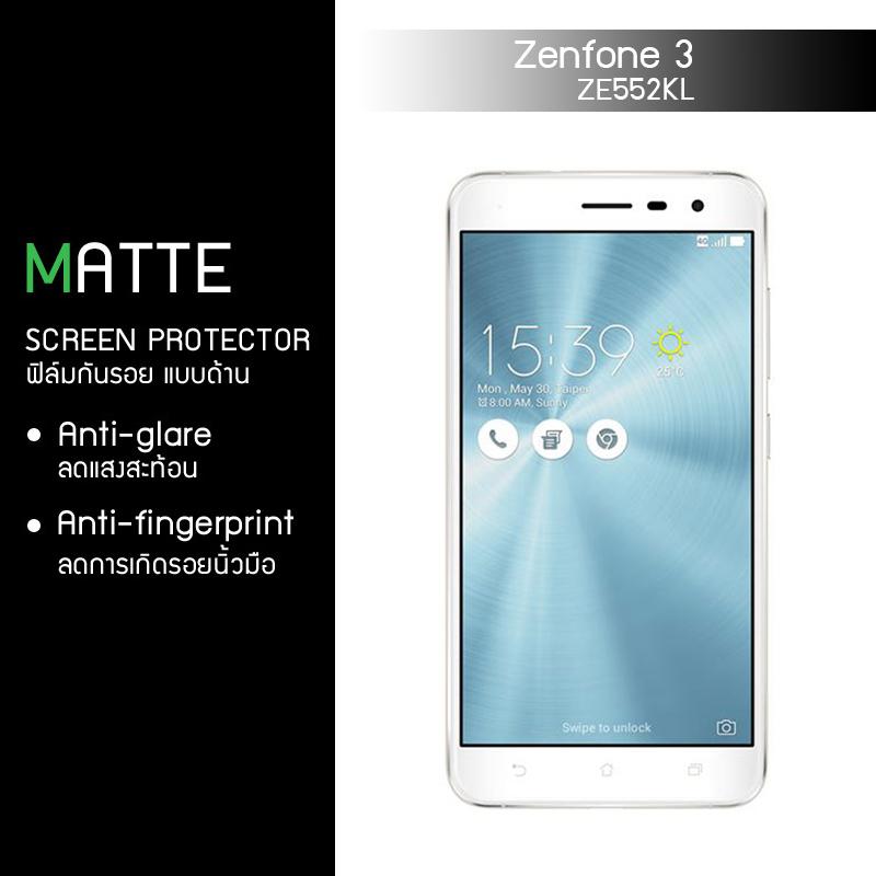 """ฟิล์มกันรอย Zenfone 3 5.5"""" นิ้ว (ZE552KL) แบบด้าน"""
