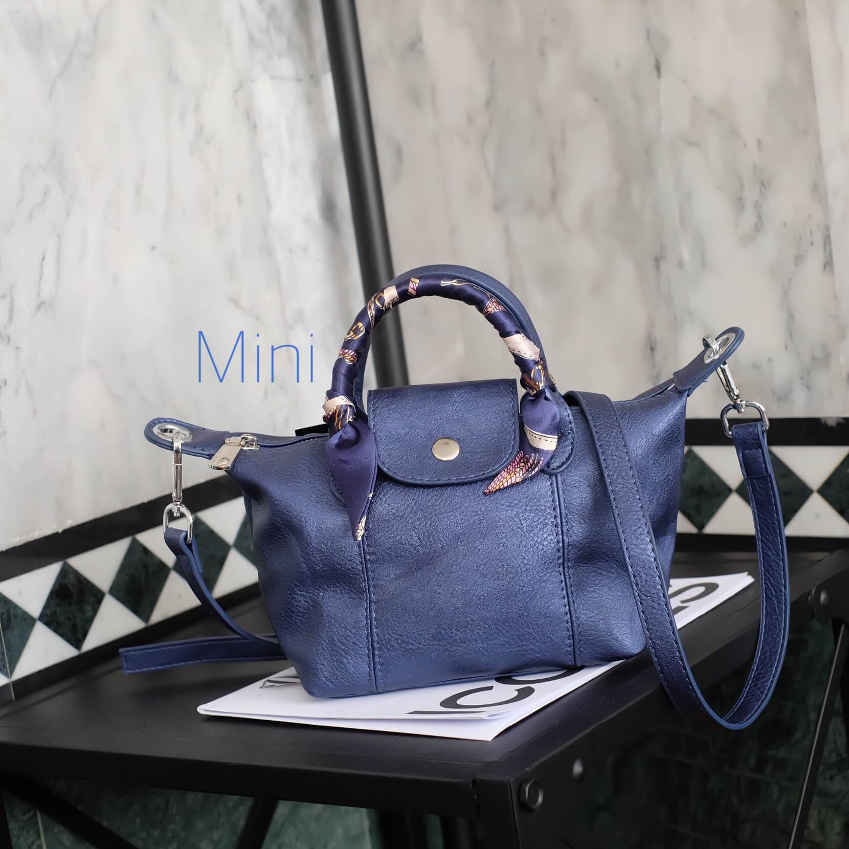 กระเป๋า KEEP Mini Longchamp Duo Sister Smoke Grey ราคา 1,390 บาท Free Ems