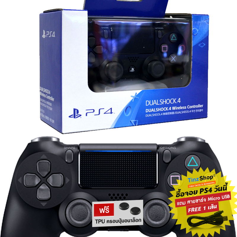 【New】Dualshock 4 Wireless Controller สีดำ รุ่นใหม่ CUH-ZCT2G ( ศูนย์ )