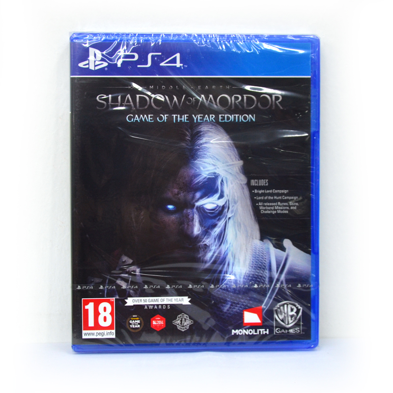 PS4 Shadow Of Mordor : Game of The Year Edition Zone 1, 2 EU / English