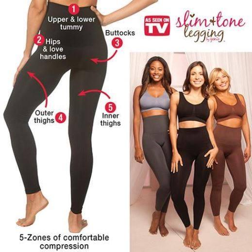 📍กางเกงเลกกิ้งกระชับสัดส่วน GENIE รุ่น Slim and Tone Legging S/M