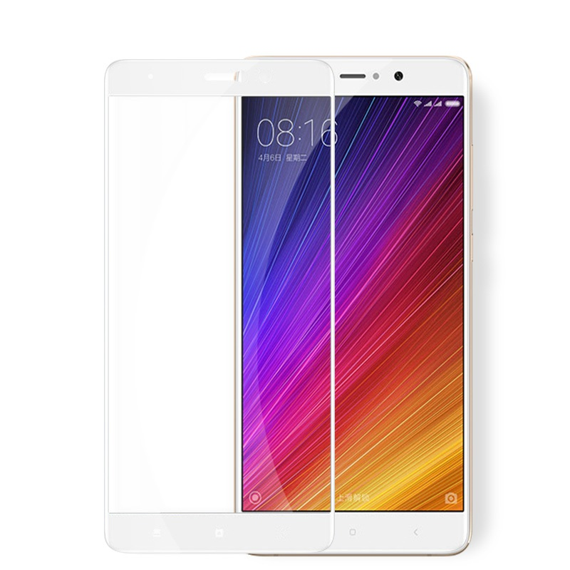 Xiaomi Mi5s Plus ฟิล์มกระจกนิรภัยเต็มจอ 9H+ บาง 0.33mm (ขอบขาว)